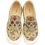 Goby VN4005 Skull Women Sneakers Shoes - Goby Shoes UK