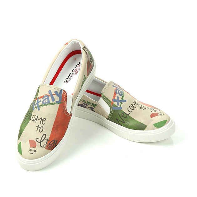 GOBY Italy Slip on Sneakers Shoes VN4017 Women Sneakers Shoes - Goby Shoes UK