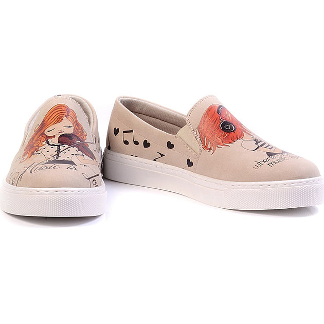 Goby VN4023 Violinist Girl Women Sneakers Shoes - Goby Shoes UK