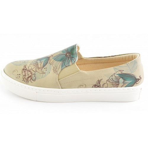 Goby VN4031 Flowers Women Sneakers Shoes - Goby Shoes UK
