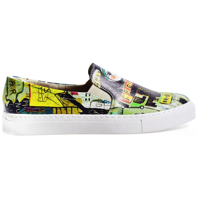 Goby VN4032 Graffiti Women Sneakers Shoes - Goby Shoes UK