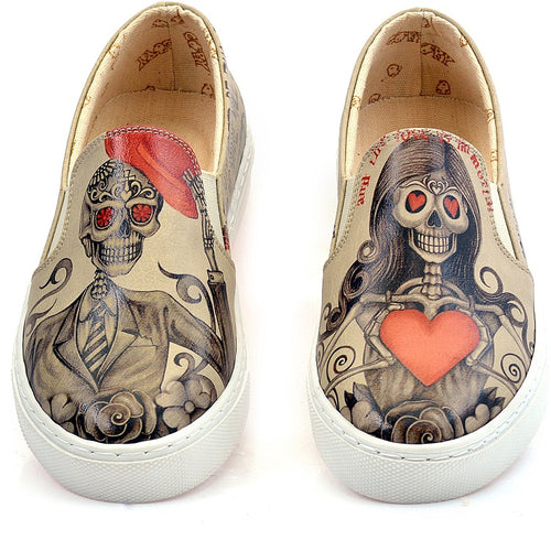 Goby VN4034 Death is Not End of Love Women Sneakers Shoes - Goby Shoes UK