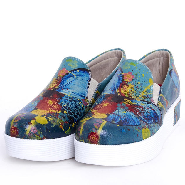 Goby VN4201 Butterfly Women Sneakers Shoes - Goby Shoes UK