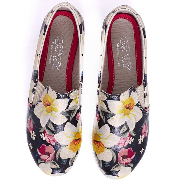 Goby VN4209 Flowers Women Sneakers Shoes - Goby Shoes UK