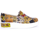 Goby VN4211 Pop Art Women Sneakers Shoes - Goby Shoes UK
