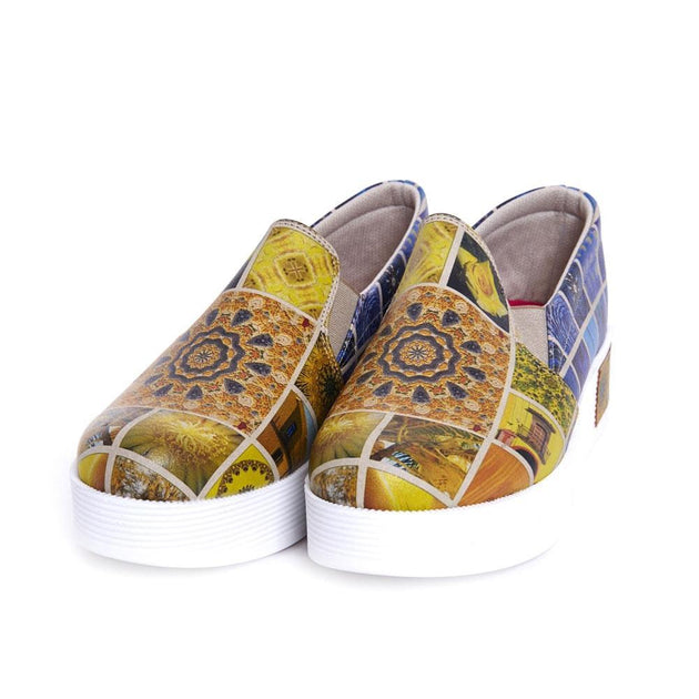 GOBY Art Slip on Sneakers Shoes VN4212 Women Sneakers Shoes - Goby Shoes UK