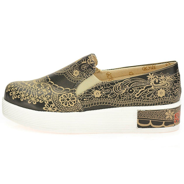 Goby VN4221 Pattern Women Sneakers Shoes - Goby Shoes UK