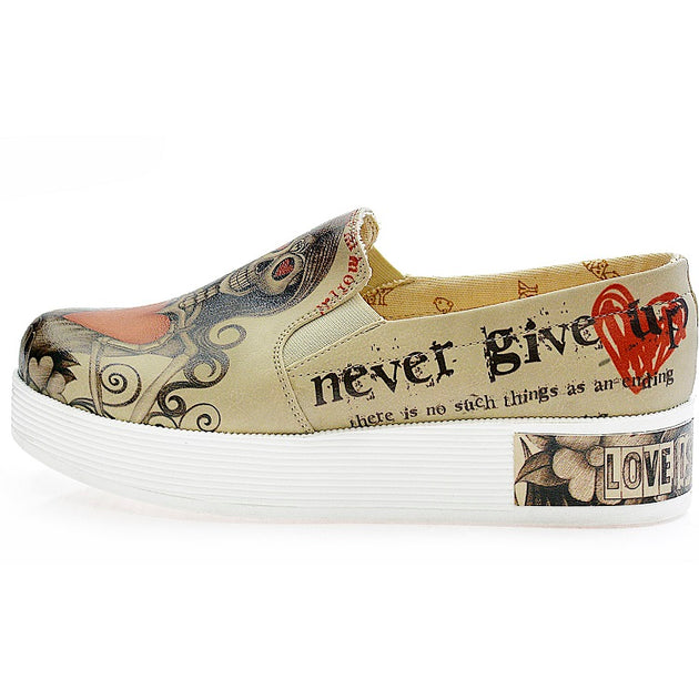 Goby VN4222 Death is Not End of Love Women Sneakers Shoes - Goby Shoes UK