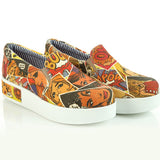 Goby VN4303 Pop Art Women Sneakers Shoes - Goby Shoes UK