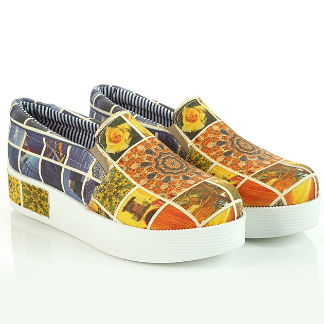 Goby VN4304 Art Women Sneakers Shoes - Goby Shoes UK