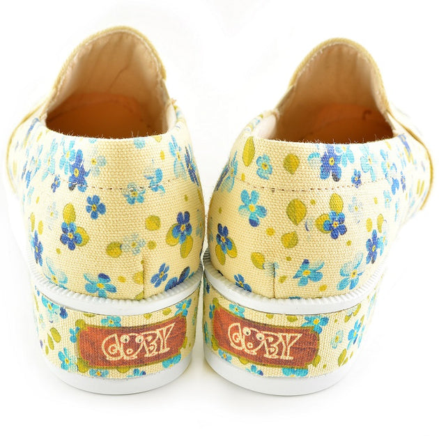 Goby VN4306 Flowers Women Sneakers Shoes - Goby Shoes UK