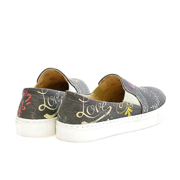 GOBY Be in Love Slip on Sneakers Shoes VN4401 Women Sneakers Shoes - Goby Shoes UK