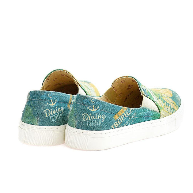 GOBY Diving Center Slip on Sneakers Shoes VN4404 Women Sneakers Shoes - Goby Shoes UK