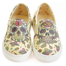 Goby VN4406 Skull Women Sneakers Shoes - Goby Shoes UK