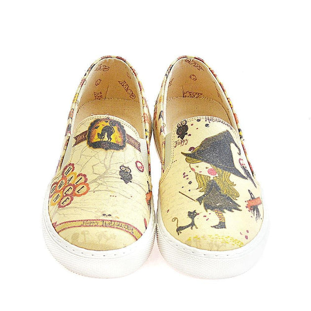 GOBY Halloween Slip on Sneakers Shoes VN4411 Women Sneakers Shoes - Goby Shoes UK