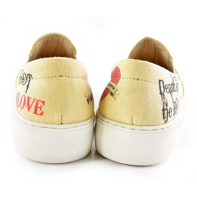 Goby VNY101 Love is Immortal Slip on Sneakers Shoes Women Sneakers Shoes - Goby Shoes UK