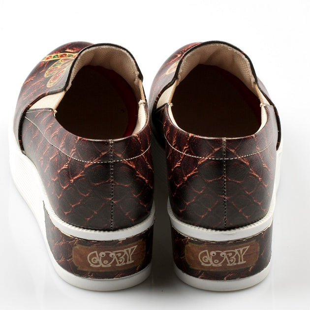 Goby VN4213 Snake Women Sneakers Shoes - Goby Shoes UK