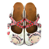 CALCEO Red and Black Colored, Polkadot and Red Color Ladybug, Sweet Girl Patterned Clogs - WCAL120 Clogs Shoes - Goby Shoes UK