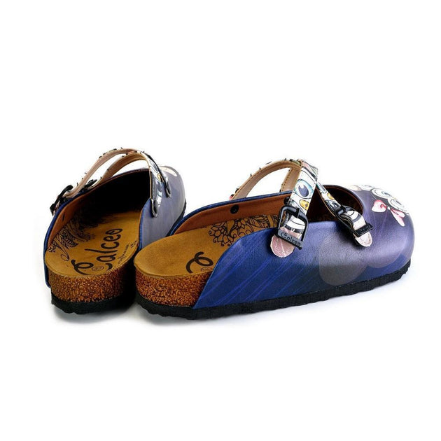 CALCEO Black Cute Penguins Patterned Clogs - WCAL175 Women Clogs Shoes - Goby Shoes UK