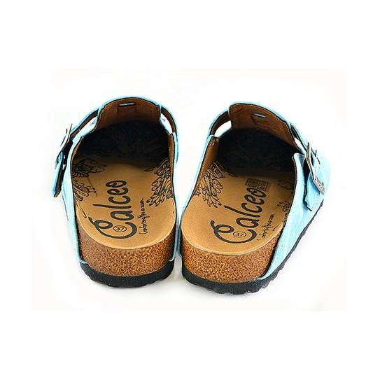 CALCEO Blue Butterfly Clogs - WCAL340 Women Clogs Shoes - Goby Shoes UK