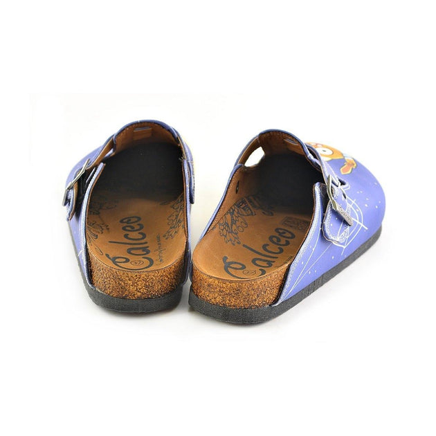 ... CALCEO Blue Moon Light and Naughty Cat Patterned Clogs - WCAL352 Women  Clogs Shoes - Goby fc2c19d1c0