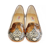 Brown Pattern Shoes Career Heel Shoes WDB101