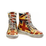 GOBY Flag Short Boots WJAS112 Women Short Boots Shoes - Goby Shoes UK