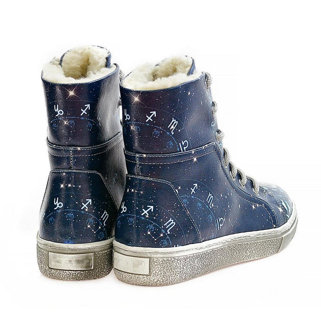 GOBY Astrology Short Boots WJAS118 Women Short Boots Shoes - Goby Shoes UK