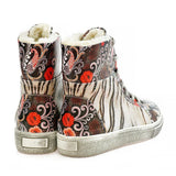 GOBY Tiger Short Boots WJAS122 Women Boots Shoes - Goby Shoes UK