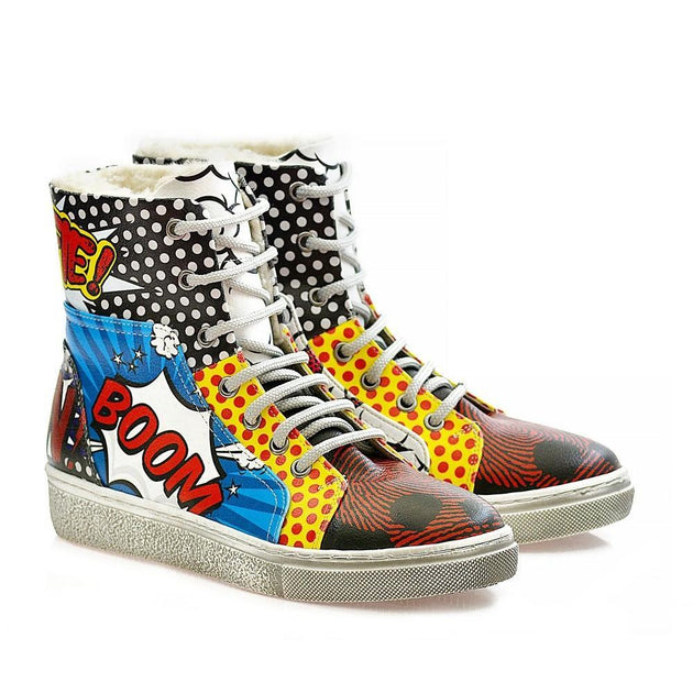 GOBY Pop Art Short Boots WJAS123 Women Boots Shoes - Goby Shoes UK