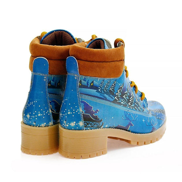 GOBY Snow Short Boots WKAT114 Women Boots Shoes - Goby Shoes UK