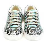 GOBY Black and Blue Pattern Slip on Sneakers Shoes WSPR114 Women Sneakers Shoes - Goby Shoes UK