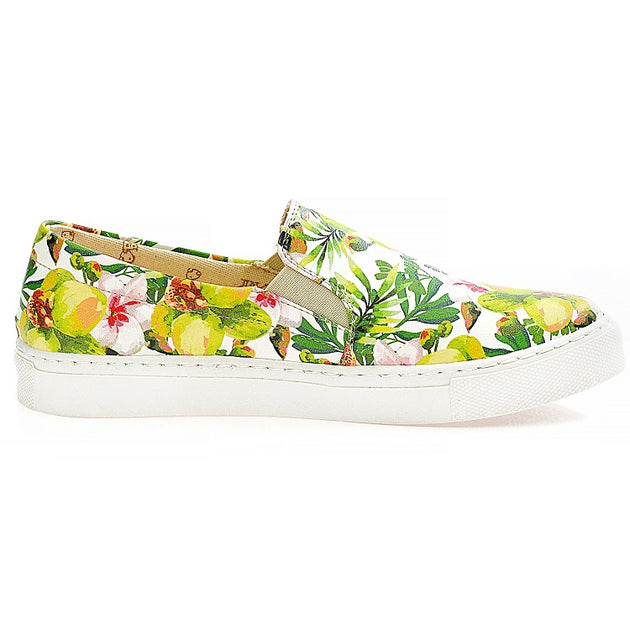 Goby WVN4042 Flowers Women Sneakers Shoes - Goby Shoes UK