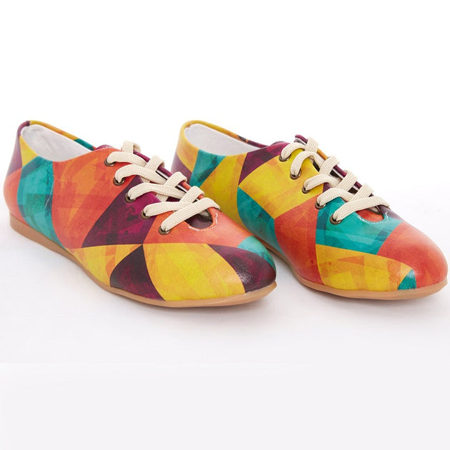 Goby SLV77 Colored Prismas Women Ballerinas Shoes - Goby Shoes UK
