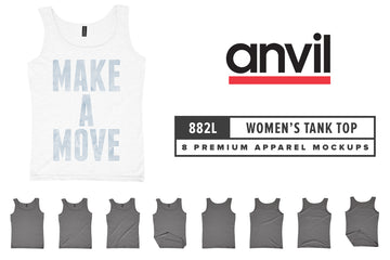 Anvil Knitwear 882L Women's Lightweight Tank Mockups