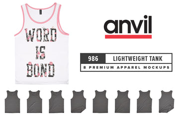 Anvil Knitwear 986 Lightweight Fashion Tank Mockups