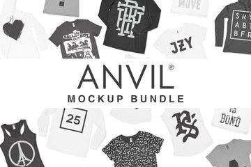 Anvil Knitwear Apparel Mockups Bundle