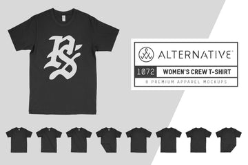 Alternative Apparel 1072 Women's T-Shirt Mockups