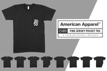 American Apparel 2406 Fine Jersey Pocket T-Shirt