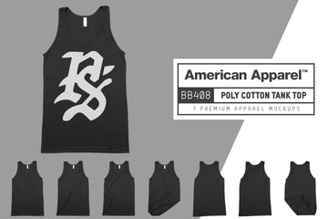 American Apparel BB408 Poly-Cotton Tank Mockups
