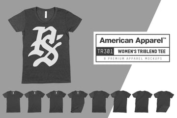 American Apparel TR301 Women's Tri-Blend T-Shirt