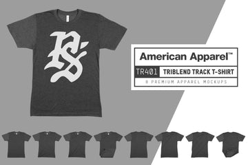American Apparel TR401 Tri-Blend Track T-Shirt