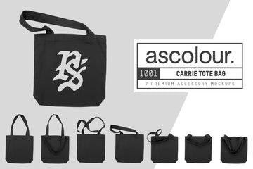 AS Colour 1001 Carrie Tote Bag Mockups