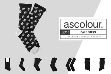 AS Colour 1203 Calf Socks Mockups