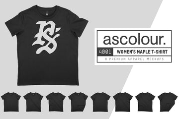AS Colour 4001 Maple T-Shirt Mockups
