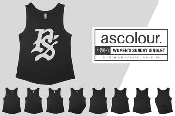 AS Colour 4004 Women's Sunday Singlet Mockups