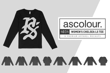 AS Colour 4034 Wo's Chelsea L/S T-Shirt Mockups