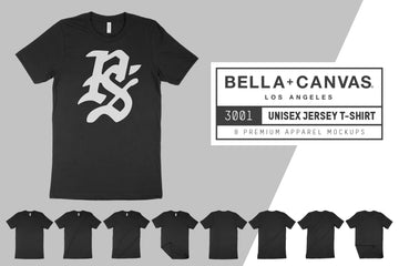 Bella Canvas 3001 T-Shirt Mock Ups
