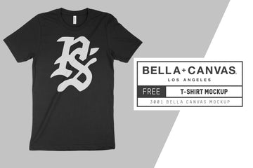 Free Bella Canvas 3001 T-Shirt Mockup