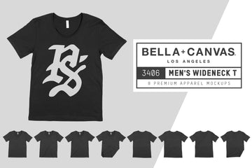 Bella Canvas 3406 Men's Wide Neck Tee